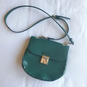 Zara Dark Green Crossbody Bag